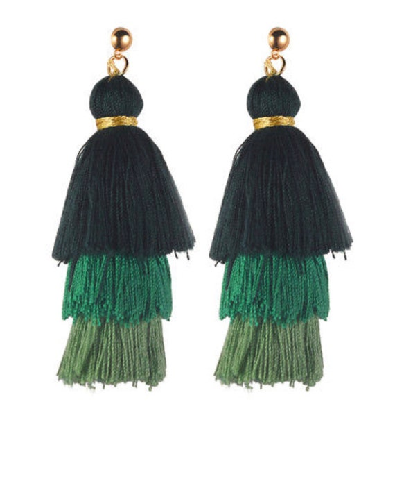 3 Tiered Fringe Tassel Earrings