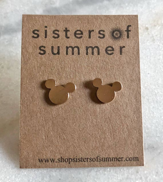 Mickey Stud Earrings