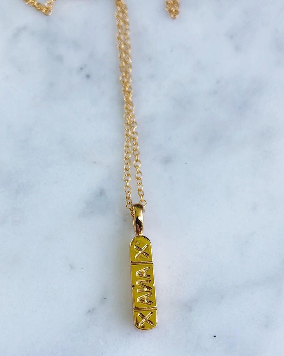 Xanax Chill Pill Necklace Gold or Silver