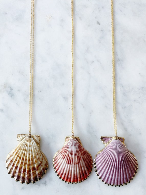14K Gold Plated Seashell Necklace