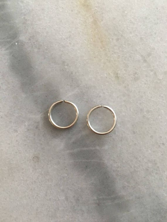 Platinum PAIR of Hoops Earrings - 18 Gauge
