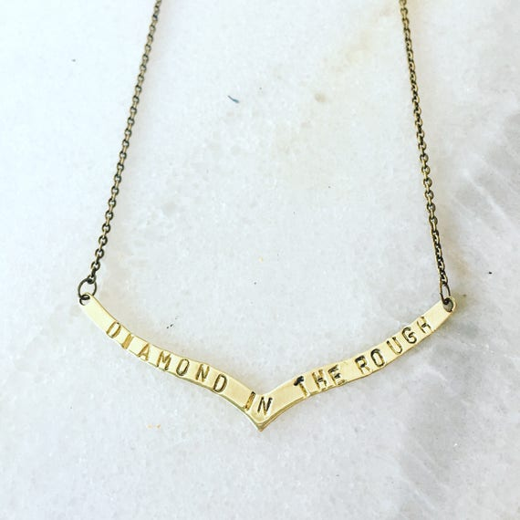 Diamond In The Rough Disney Aladdin Hand Stamped Necklace