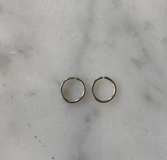 Platinum PAIR of Hoops Earrings - 20 Gauge