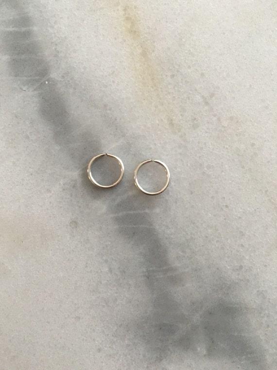 Sterling Silver SINGLE Hoop Earrings - 18 Gauge