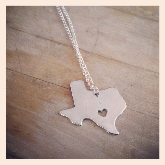 Texas Love Necklace with Custom Heart