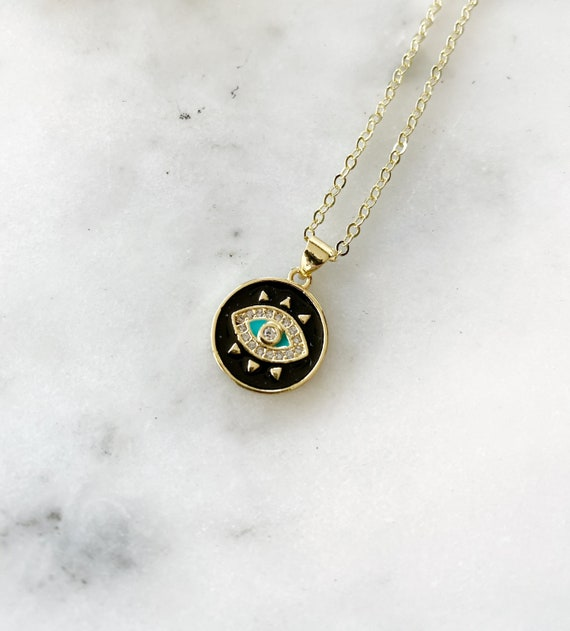 Gold-Filled All-Seeing Eye Charm Necklace