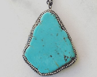 Turquoise Bling Necklace