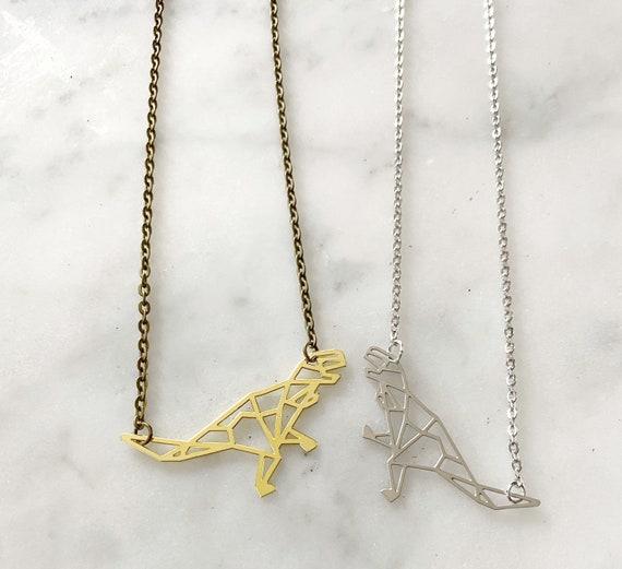 Tyrannosaurus Rex T-Rex Necklace Silver or Gold