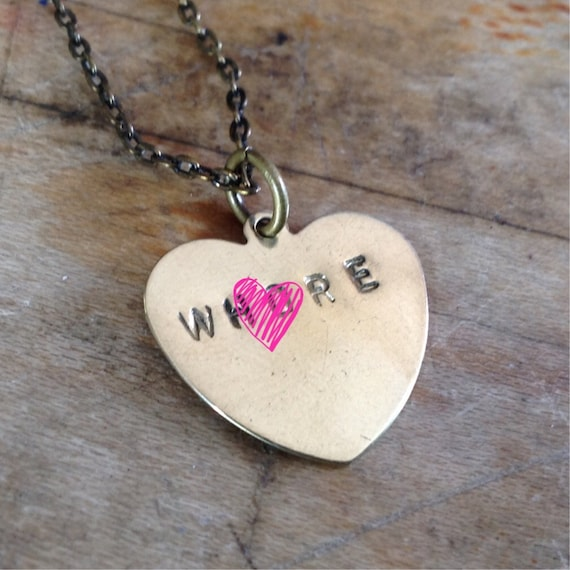 Wh*re Stamped Necklace - Mature Conversation Heart
