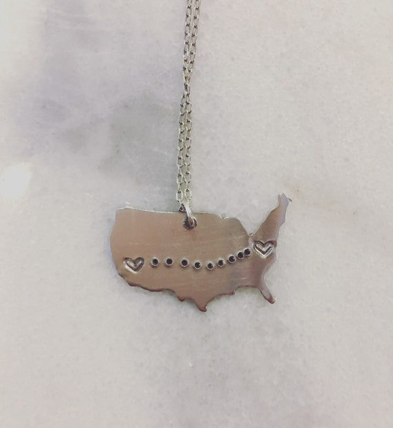Long Distance Love Necklace - CUSTOMIZABLE
