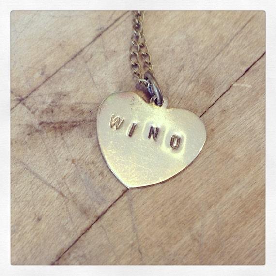 Wino Heart Necklace