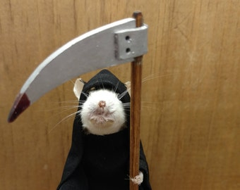 Grim Reaper Taxidermy Mouse