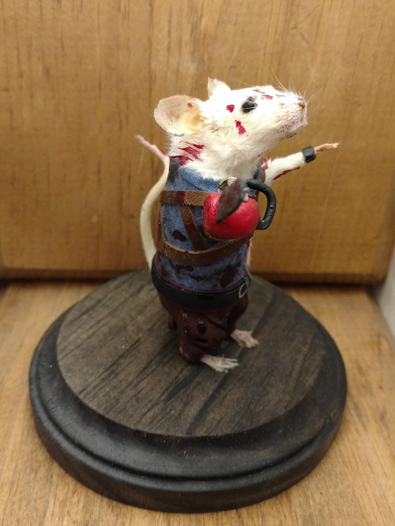 Groovy Ash Taxidermy Mouse