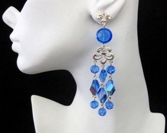 Vintage Swarovski Sapphire AB Chandeliers