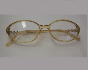 287f22549e Vintage Genuine Christian Dior Plastic Frames Eyeglasses Made in Austria CD  3020