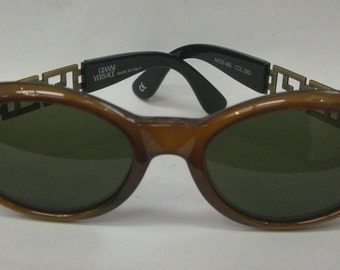2e13dd41885 Nwt Original Rare GIANNI VERSACE Sunglasses Made In Italy Mod. 486 MEDUSA  Buckle