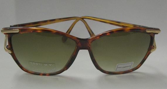d400fdf237 Vintage Rare DESIGNER TED LAPIDUS Sunglasses Brown Tortoise