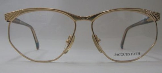 Authentic Vintage JACQUES FATH Gold Frame Eyeglass