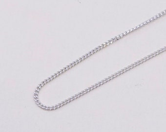 18 1mm vintage stamped 925 Italy 540057 Sterling silver necklace gold over 925 silver box chain