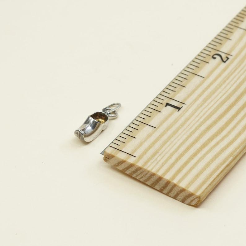 925 Holland wooden shoe pendant Sterling silver handmade charm Vintage 020257