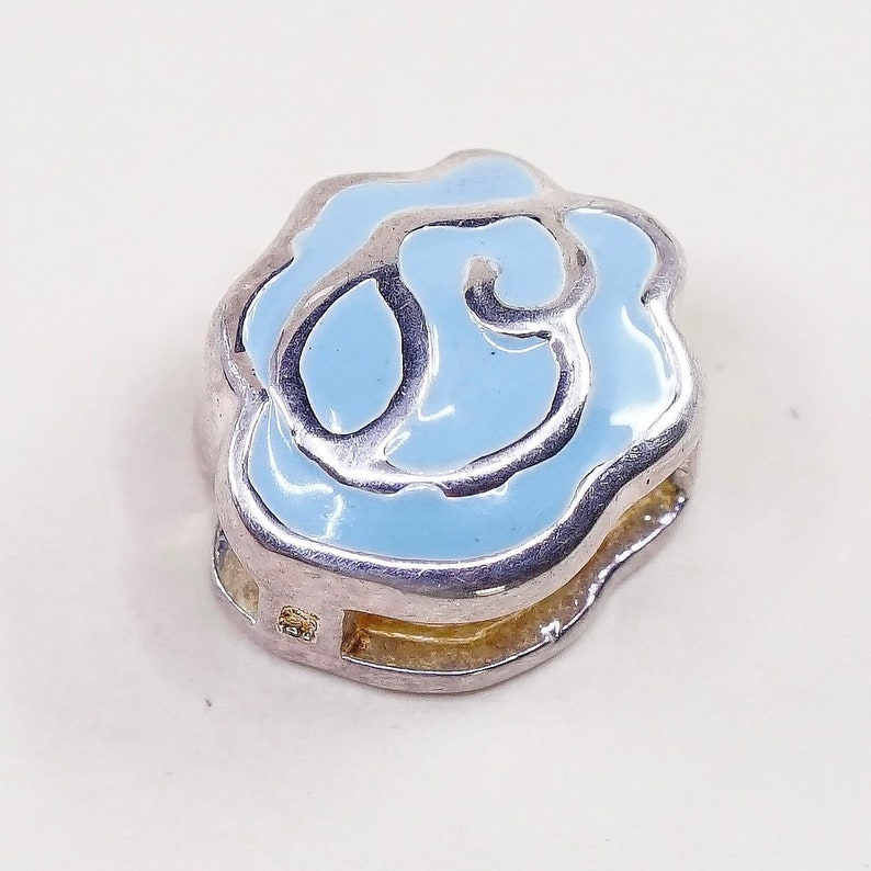 Vintage 021282 stamped 925 sterling silver handmade pendant solid 925 silver could with enamel inlay