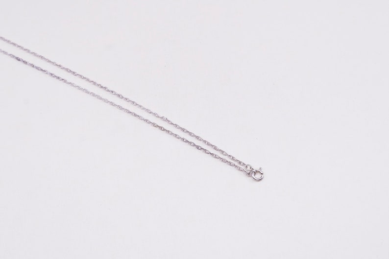 2mm vintage Sterling silver necklace 24\u201d stamped 925 925 Singapore rope chain