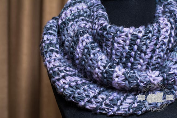 Infinity Scarf For Women Loose Knit Scarf Double Face Scarf Etsy