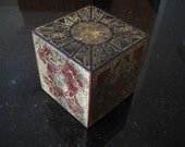 Hellraiser Aged Lament Configuration. Mahogany cube with Aged Brass panels. Puzzle box Pinhead