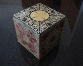 Hellraiser Lament Configuration. Mahogany cube with Brass panels. Puzzle box Pinhead