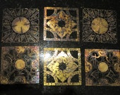 Hellraiser Lament Configuration Aged Brass panels. Puzzle box Pinhead