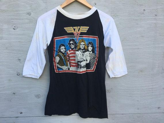 80s Vintage Van Halen Raglan T Shirt - Van Halen R