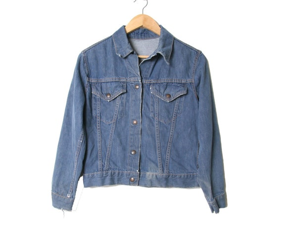 Vintage Levis Denim Jacket Big E Size Small Womens