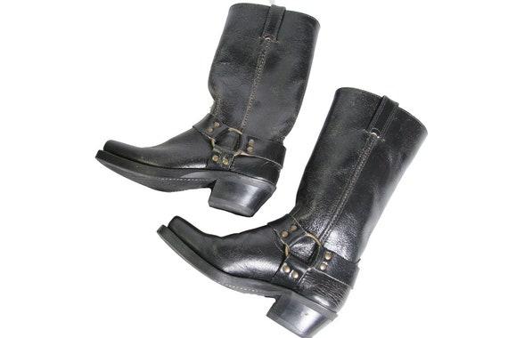 taille Boot de 6 moto FRYE Tall moto carr Womens harnais bottes bout f4qxZOI