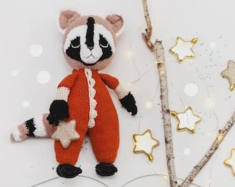 crochet raccoon animal stuff crochet raccoon knitted toy gray raccoon doll amigurumi raccoon kids toy cute raccoon crochet plush Wonderland