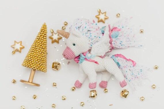 Gefüllte Einhorn Puppe Häkeln Stricken Spielzeug Einhorn Etsy