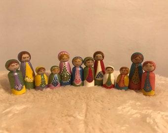 Matryoska peg dolls