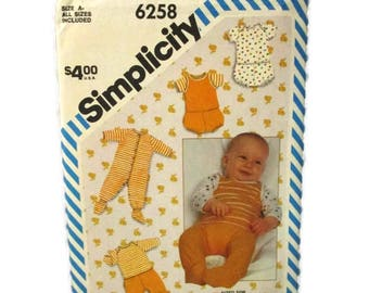 Simplicity 6258 Babies Layette CUT
