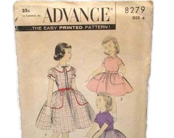 Advance 8279 Girls Dress Size 6 CUT