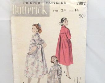 Butterick 7957 Quick Easy Flared Dusters UNCUT
