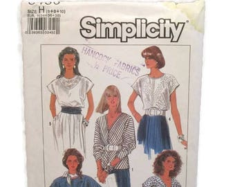 Simplicity 8436 Misses Easy to Sew Tops UNCUT