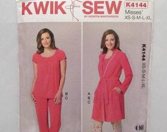Kwik Sew 3826 Misses Dress /& Top Sewing Pattern Sz XS-XL Sealed