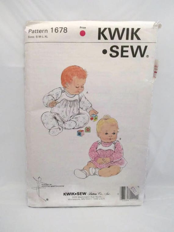 Kwik Sew 1678 Babies Shirt Overalls and Dress UNCUT | Etsy