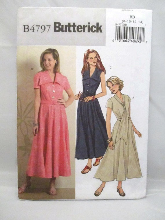 Butterick Sewing Pattern 5748 Misses/' Petite Dress Flared Skirt