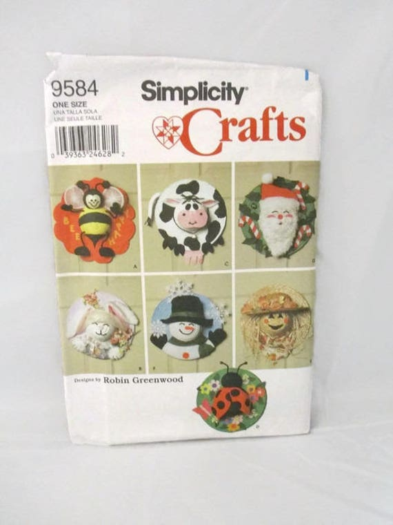 Simplicity 9584 Seasonal Door Decorations UNCUT | Etsy