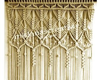 Macrame Curtain HANDMADE Wall Hanging Wedding Doorway