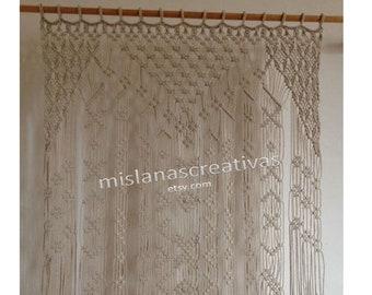 Macrame Wall ArtMacrame CurtainMacrame HangingWindow CurtainDecor