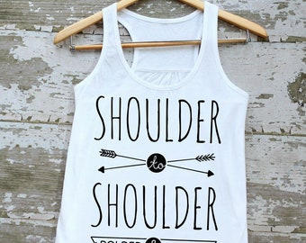 Shoulder to Shoulder Tank Top (suffrage anthem)