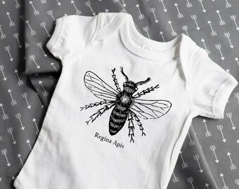 Queen Bee Feminist Baby Outfit (Bodysuit, multiple colors)