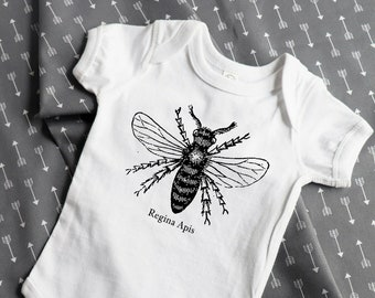 "Feminist Baby Outfit | ""Queen Bee"" Baby bodysuit 