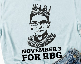 "Ruth Bader Ginsburg ""November 3 for RBG"" Shirt"